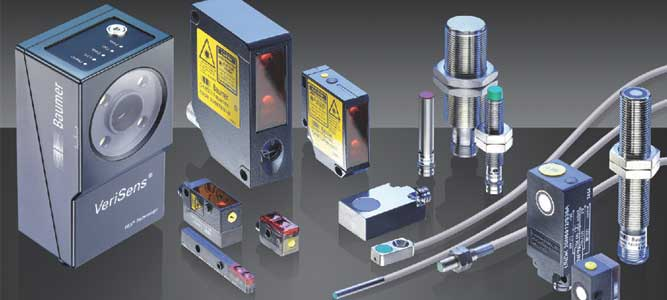Sensors for factory automationSemiconductor industry / Water and energy supply / Transport / Textile machines / Mining / Storage and logistics ...